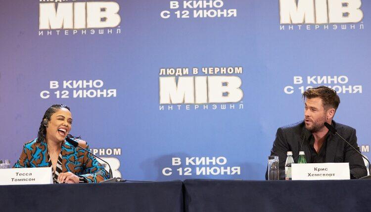 В Москве прошла пресс-конференция Криса Хемсворта и Тессы Томпсон