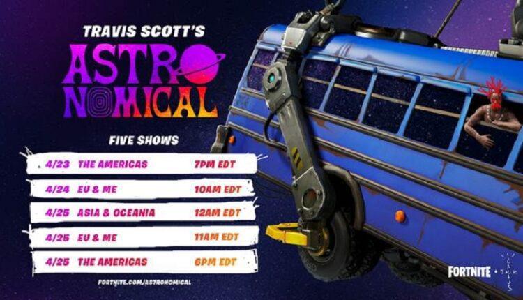 Travis Scott даст серию эксклюзивных виртуальных концертов в игре Fortnite