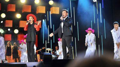 Певица Яна Клявиня выступила на юбилейном международном фестивале в Беларуси